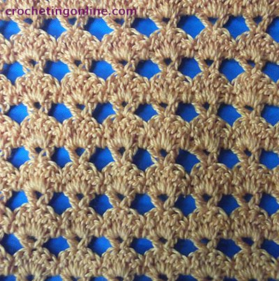 Angled crochet stitches