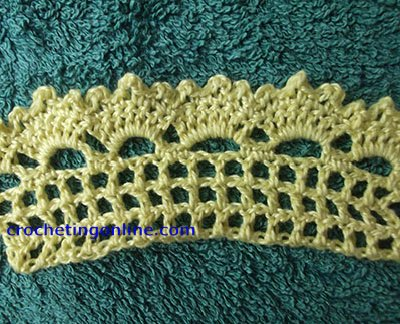 Crown Edging crochet stitches