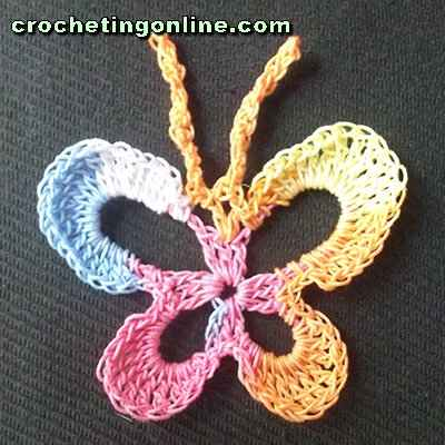 Butterfly crochet stitches