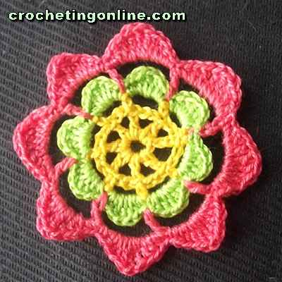 Kaleidoscope crochet stitches