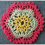 crocheting patterns Hexagon Motif Snowflake