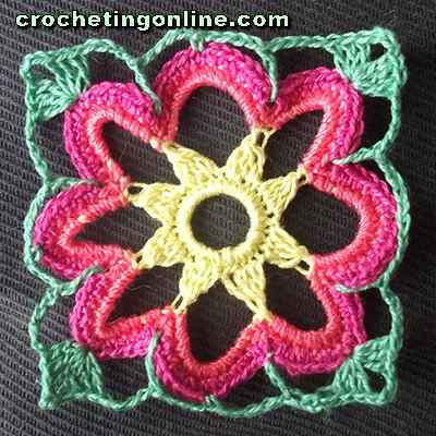 Cosmos crochet stitches