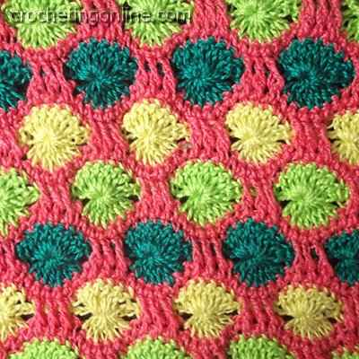 Dandelions crochet stitches