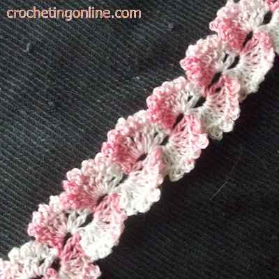 Butterfly wing crochet stitches
