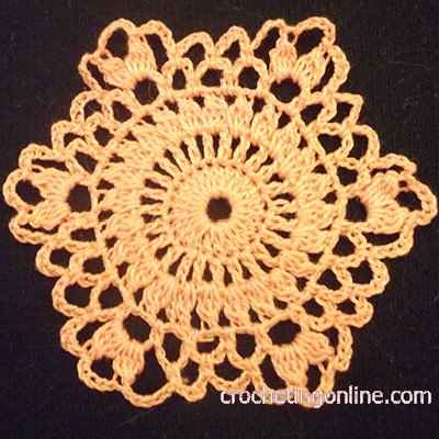Ruffle Hexagon crochet stitches