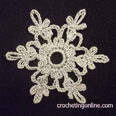 Star-like Snowflake crochet stitches