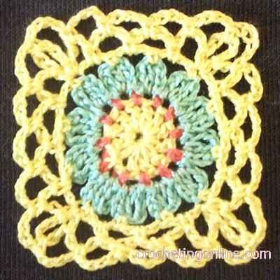 Garden Motif crochet stitches