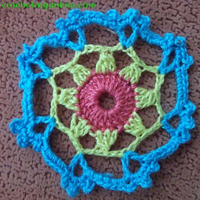 Octagon Motif Daisy crochet stitches