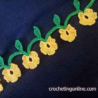 Chain of Flowers crochet stitches