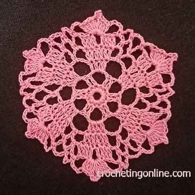 Dahlia Hexagon crochet stitches