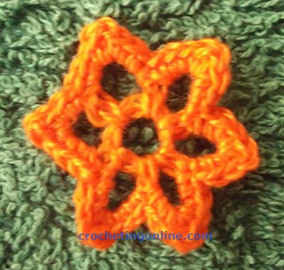Small Flower crochet stitches