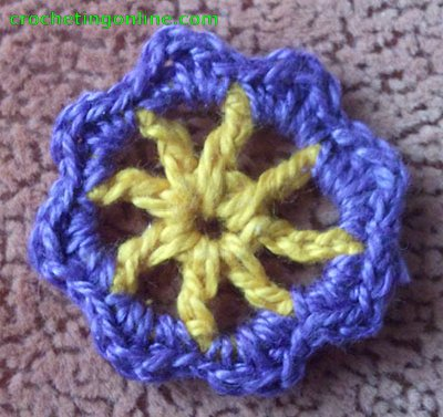 Wheel crochet stitches
