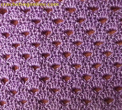 The easy shell stitch:: crochet stitch #60.