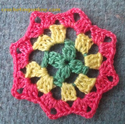 Octagon Motif Dahlia crochet stitches