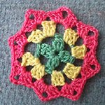 vintage crochet patterns Octagon Motif Dahlia