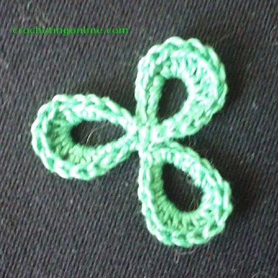 Trefoil crochet stitches