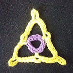 crochet patterns for beginners Triangle Motif Eye
