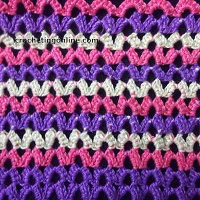 Horseshoe crochet stitches