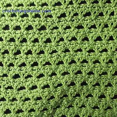 Triangles crochet stitches