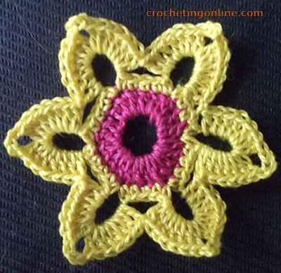 Crocus crochet stitches