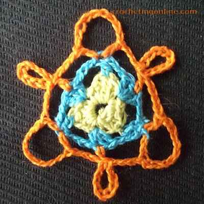 Propeller crochet stitches