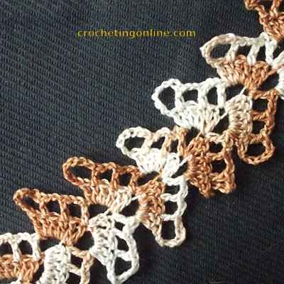 Herringbone crochet stitches