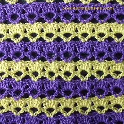 Small key crochet stitches