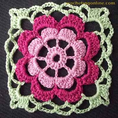 Gerbera crochet stitches