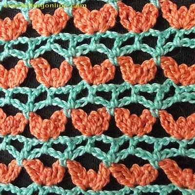 Shamrock crochet stitches