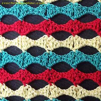 Wave crochet stitches