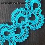 crochet lace edging Sea shells