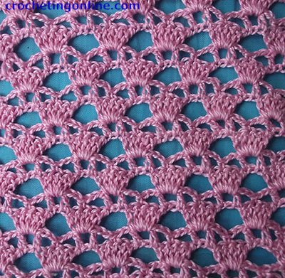 Diadem Lattice crochet stitches