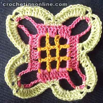 Sunflower crochet stitches