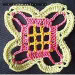 spider lace crochet pattern Sunflower